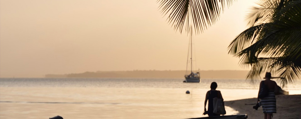 The end of a day on Isla Carenero.